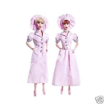 LUCY & ETHEL CHOCOLATE FACTORY Barbie Giftset MNRFB!