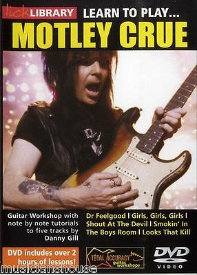 LICK LIBRARY Learn to Play MOTLEY CRUE Tutor DR FEELGOOD GIRLS ROCK Guitar DVD