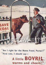 Bovril Warms And Cheers - Advertising Postcard