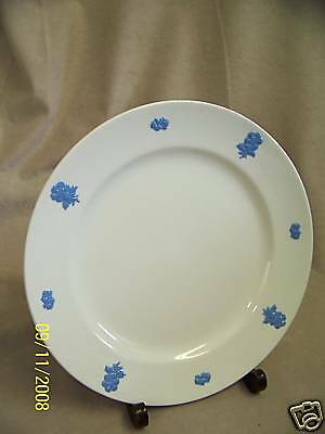 ADAMS CHINA VICTORIAN WARE BLUE FLORAL CAMEO DINNER PLATE