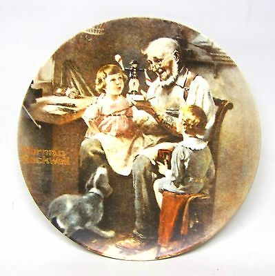 """1977 Norman Rockwell's """"The Toy Maker"""" collector plate"""