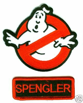 Ghostbusters Spengler Name Tag 2-Patch Iron-On Set