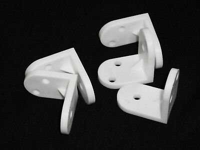 Pack of 20 X White Plastic Angle Brackets  for Furniture Assembly