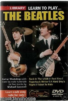 LICK LIBRARY Learn To Play THE BEATLES PAPERBACK WRITER I FEEL FINE Guitar DVD