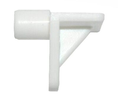 Pack of 20 White Plastic 5mm Shelf Support Studs for 5mm Holes in Kitchen Units