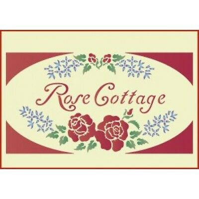 ROSE COTTAGE SIGN STENCIL - REDUCED PRICE - The Artful Stencil