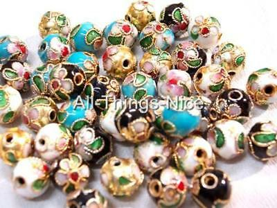 CLOISONNE 8mm Beads Spacer Jewellery Making Findings WHOLESALE Lot 100