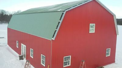 Steel Metal Gambrel Home Building Shell Kit, 2 floor 3600 sq ft