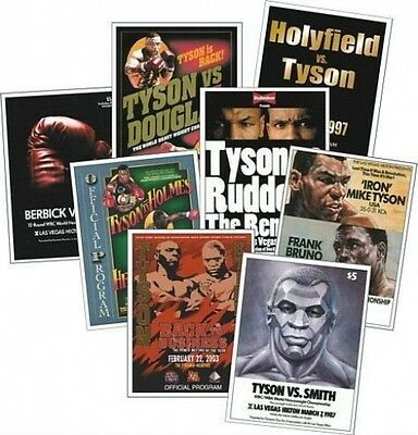 Mike Tyson Program programme Cover Trading Card Set