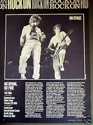 1985 The Firm Jimmy Page photo Revue page TX concerts