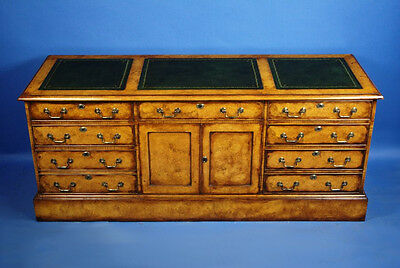 Antique Style Reproduction English Burl Oak Credenza Free Shipping!