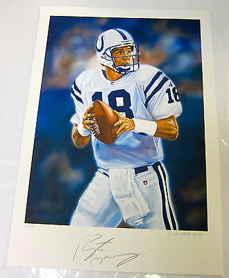 Peyton Manning Autographed Lithograph Indianapolis Colts  Samantha Wendell
