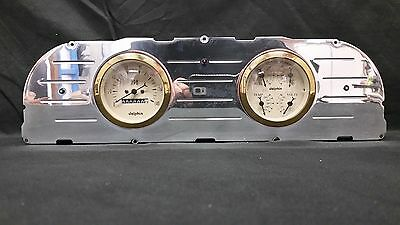 60 61 62 63 CHEVY TRUCK 3 3/8 QUAD GAUGE CLUSTER GOLD