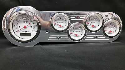 53 54 CHEVY CAR GAUGE CLUSTER WHITE