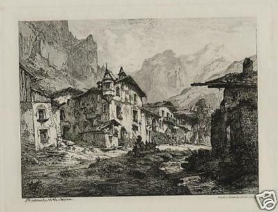 Albert Emil Richter. Tiroler Dorf. 1846