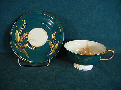 Castleton China Valmere Green Cup and Saucer Set(s)