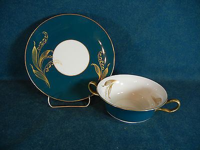 Castleton Valmere Green Cream Soup and Under Plate Set(s)