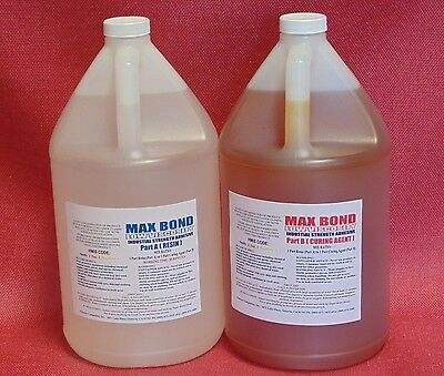 Epoxy Fiberglassing Resin High Impact & Strength Marine Aerospace Grade 2 Gal Lv