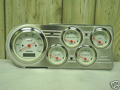 48 49 50 FORD TRUCK 5 GAUGE DASH CLUSTER WHITE
