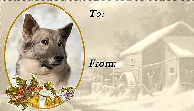 Elkhound Christmas Labels by Starprint