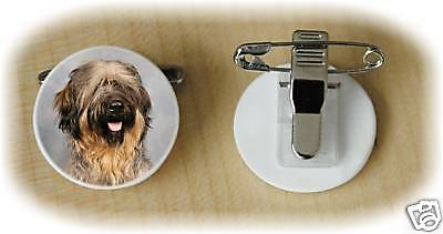 Briard Dog Fine Bone China Ring Clip by Starprint - Auto combined postage