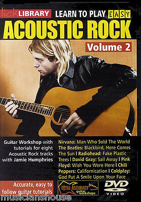 LICK LIBRARY Learn to Play EASY ACOUSTIC ROCK 2 Tutor LESSONS SONGS Guitar DVD
