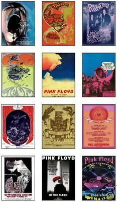 Pink Floyd Concert Posters Trading Card Set