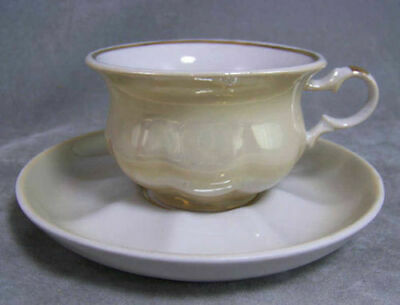 Russian China Creme Mini Melon Teacup & Saucer Lovely