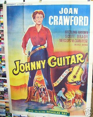 JOHNNY GUITAR Joan Crawford  Nicholas Ray original French 1954 movie poster