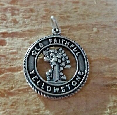 Bear of Yellowstone National Park sterling silver charm .925 x 1 SSLP1671
