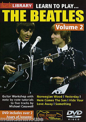 LICK LIBRARY Learn To Play VOL.2 THE BEATLES VOL2 Yesterday Something Guitar DVD