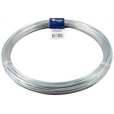 2x 180M Soft Gal Fence Wire Electric Fence Fencing Wire Farm Landscape Tie Wire