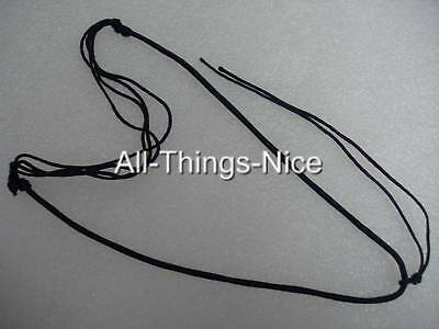 "Silk Pendant Tie 18-24"" Adjustable SLIDE Necklace Jewellery String Cord 20"