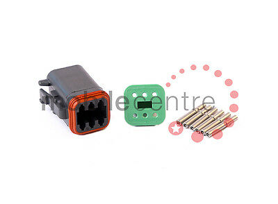 Deutsch DT 06 6S plug W6S wedgelock DT06-6S contacts for 0.5mm > 1.0mm CSA wire