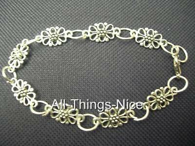 Silver Plated Bracelets DAISY CHAIN Charms WHOLESALE 10