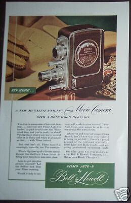 1949 Bell & Howell Filmo Auto-8 movie camera Print Ad