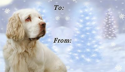 Clumber Spaniel Christmas Labels by Starprint - No 1