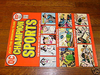 Champion Sports #1, 1973 Dc Comiv, Veryfine