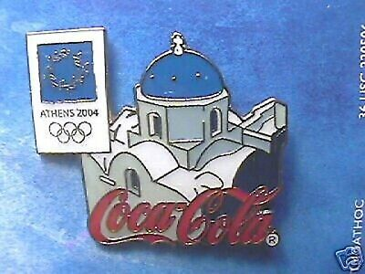 Athens 2004 Olympic Pin Coca-Cola Greek Isle Roof Pin