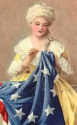 Betsy Ross~counted cross stitch pattern #1285~Vintage Patriotic Holidays Chart