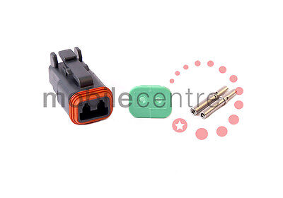 Deutsch DT 06 2S plug W2S wedgelock DT06-2S contacts for 0.5mm > 1.0mm CSA wire