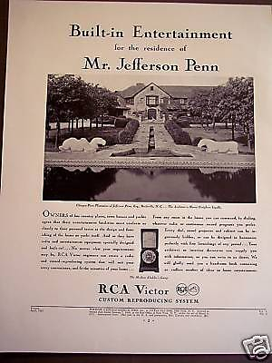 1932 vintage music Ad RCA Victor Built-in Entertainment dial-a-Record