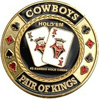 "Poker Card Guard ""Cowboys-Pair of Kings"" 24K vergoldet"