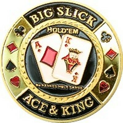 "Poker Card Guard ""Big Slicks"" Ace & King 24K vergoldet"