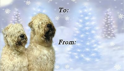 Soft Coated Wheaten Christmas Labels by Starprint