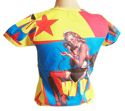 Rétro pin up sorcière//kitch//rocabilly t shirt taille s 8-10
