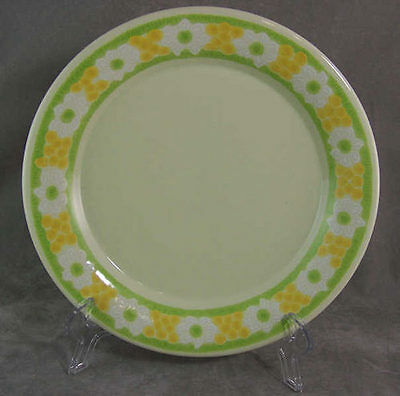 Franciscan Picnic Salad Plate Yellow Green Floral Great