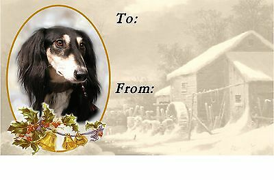 Saluki Christmas Labels by Starprint - No 2