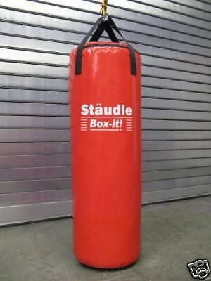 Profi Boxsack Sandsack Kick Box Training gefüllt 100 rot Made in Germany!