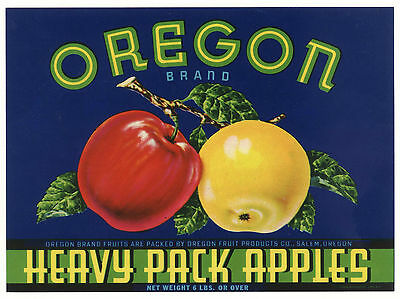 *Original* OREGON Salem Heavy Pack AUTHENTIC Apple Can Label NOT A COPY!